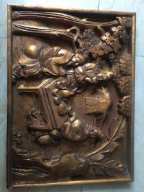 木雕花板挂件