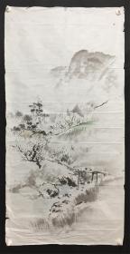 日本回流字画 1776  山水软片  包邮