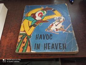 HAVOC IN HEAVEN(大闹天宫,20开英文版连环画,品差)