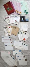 旧明信片:《80年代——2000年代中国人民邮政明信片》68张(有实寄的、空白未使用的).