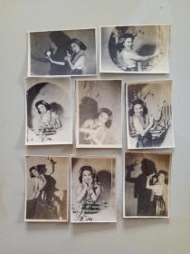 民国美女老照片一组8张