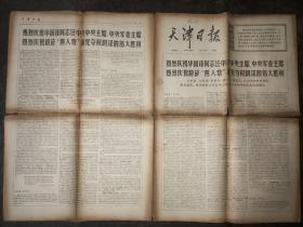 文革老报纸  天津日报  1976年10月29日  第3250号 共八版