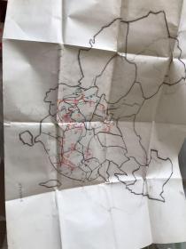 红军长征路线图 手绘地图