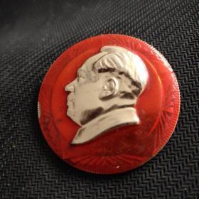 专政是群众的专政。广州工人纠察队总指挥部。毛主席像章。