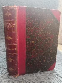 1880年  SIR TRISTREM  半皮装帧  POETICAL WORKS OF SIR WALTER SCOTT   三面书口花纹   17.6X12.6CM