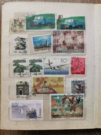 七八十年代邮票 近两百张,16面之多,品相如图,品种如图!