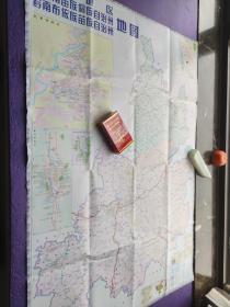 铜仁地区黔东南苗族同族自治州黔南布依族苗族自治州地图,2003年一版一印
