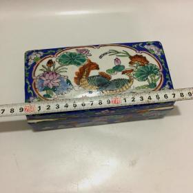老瓷器粉彩印盒