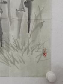 保真书画,鲁迅美术学院,中国同泽书画研究院副秘书长,荆成义先生国画佳作《吉祥平安》一幅