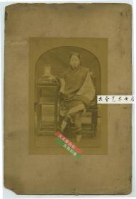 清代一百三十年前年轻小脚三寸金莲女人肖像蛋白照片