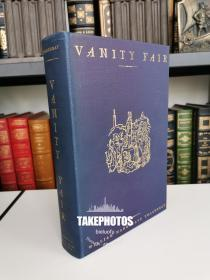 Vanity Fair  《名利场》thackeray 萨克雷 经典小说  heritage press 1940 年布面精装版 内衬200幅自作插画  阅读收藏佳品