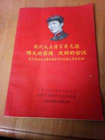 敬祝毛主席万寿无疆 伟大的实践 光辉的会议 伟大领袖毛主席在新余罗坊的伟大革命活动