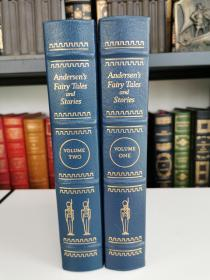 andersen fairy tales and stories《安徒生童话故事集》easton press 1977年真皮精装 全两卷  Fritz Kredel 精美彩色版画配图