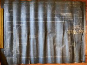 民国老上海霞飞路国泰大戏院西餐厅西厨建筑平面设计图纸