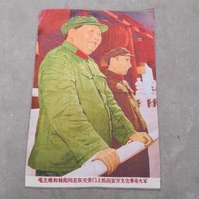 毛主席和林彪同志刺绣锦绣丝织画工艺刺绣画