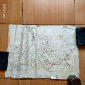 建国初期黄河流域老地图一张