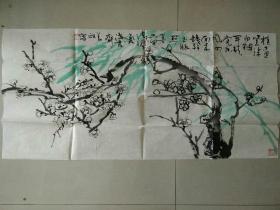 257老画家画的绿梅(好不好让作品说话)