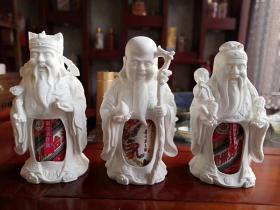 茅台酒瓶,福禄寿三星报喜酒罩酒瓶。