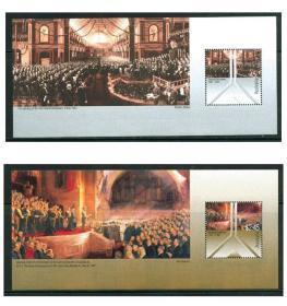 澳大利亚邮票 小全张 一套2张 联邦议会百年纪念套票 1901--2001/新票有微折印 艺术收藏品