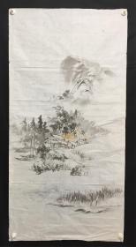 日本回流字画 1841  山水软片   包邮