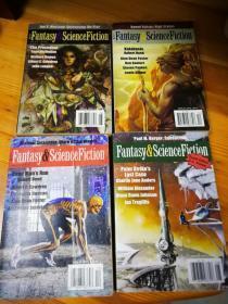 Fantasy&ScienceFiction (幻想和科幻小说) 杂志 4本合售