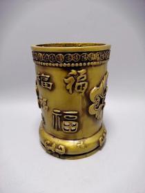 古玩铜器收藏蝙福