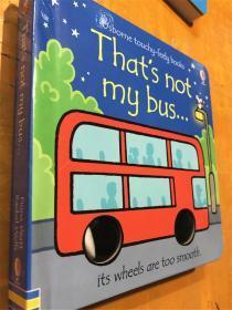 新品 原版纸板触摸书 that s not my bus  那不是我的公车
