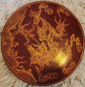 越南七十年代手绘装饰盘