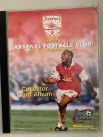 1997/1998赛季阿森纳球星卡,原卡册+90张普卡+18张特卡全