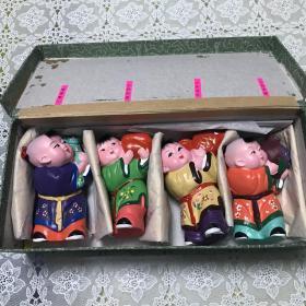 天津泥人张彩塑娃娃