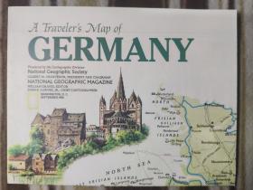 National Geographic国家地理杂志地图系列之1991年9月 Germany 德国地图