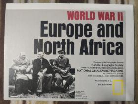 National Geographic国家地理杂志地图系列之1991年12月 World War II 二战地图