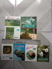 早期:福州动物园,导游图4种不同。合售,尺寸图为准