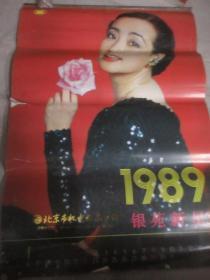 1989年 银苑新星  挂历  陶慧敏   林芳兵  史可  王惠  等  全12张