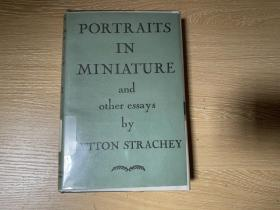 Portraits in Miniature 斯特拉奇《小照》,写鲍斯威尔、休谟、吉本、麦考莱、卡莱尔 等,董桥、梁遇春埋头读遍作者,1931年精装老版书