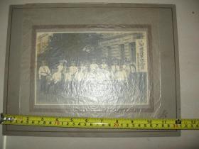 原版老照片  1921年 日军合影集体照片(日军旅顺港要塞军乐队庆祝海军纪念日合照)旅顺桥本摄影部