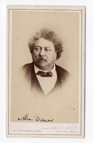 法国大文豪 大仲马 Alexandre Dumas 原版老照片