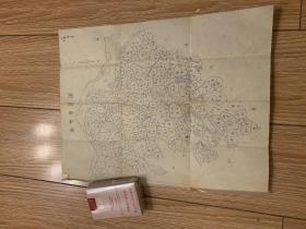 手绘旧地图   苏州专区全市 镇区 老地图