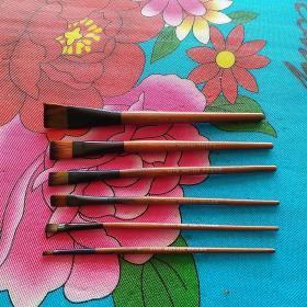 G1706  MartoI特制油画笔 6支合售(分别为1、3、5、7、9、11型号,己使用过)