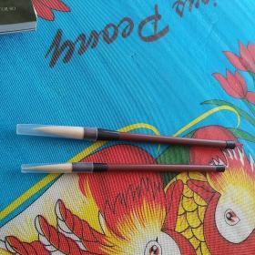 普通塑管毛笔2支合售