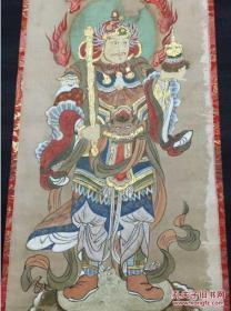 《毘沙门天图像》    江户中期写      挂轴