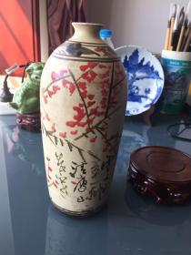 仿磁州窑釉上彩梅瓶