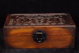 花梨木草龙纹木箱