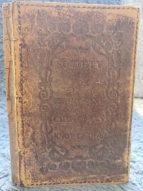 1843年签名  SOCIETY FOR PROMOTING CHRISTIAN KNOWLEDGE 全皮装帧  三面书口刷红 19.5X13CM
