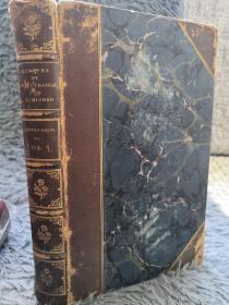1855年 MEMOIRS OF SIR ROBERT STRANGE  1 OF 2  BY JAMES EDNNISTOUN 含几幅插图 半皮装帧 三面书口刷金 20X13CM