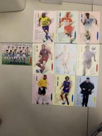 足球俱乐部球星卡十张全