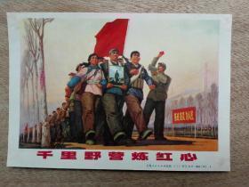 千里野营炼红心  宣传画  上海人民出版社