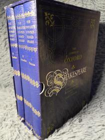 THE COMPLETE OXFORD SHAKESPEARE 3本全 带书匣 FOLIO出版 23X16.5CM