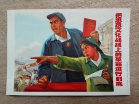 把思想文化战线上的革命进行到底  宣传画) 上海市革命组出版社