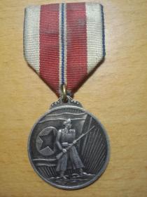 抗美援朝纪念章,银质  保真
